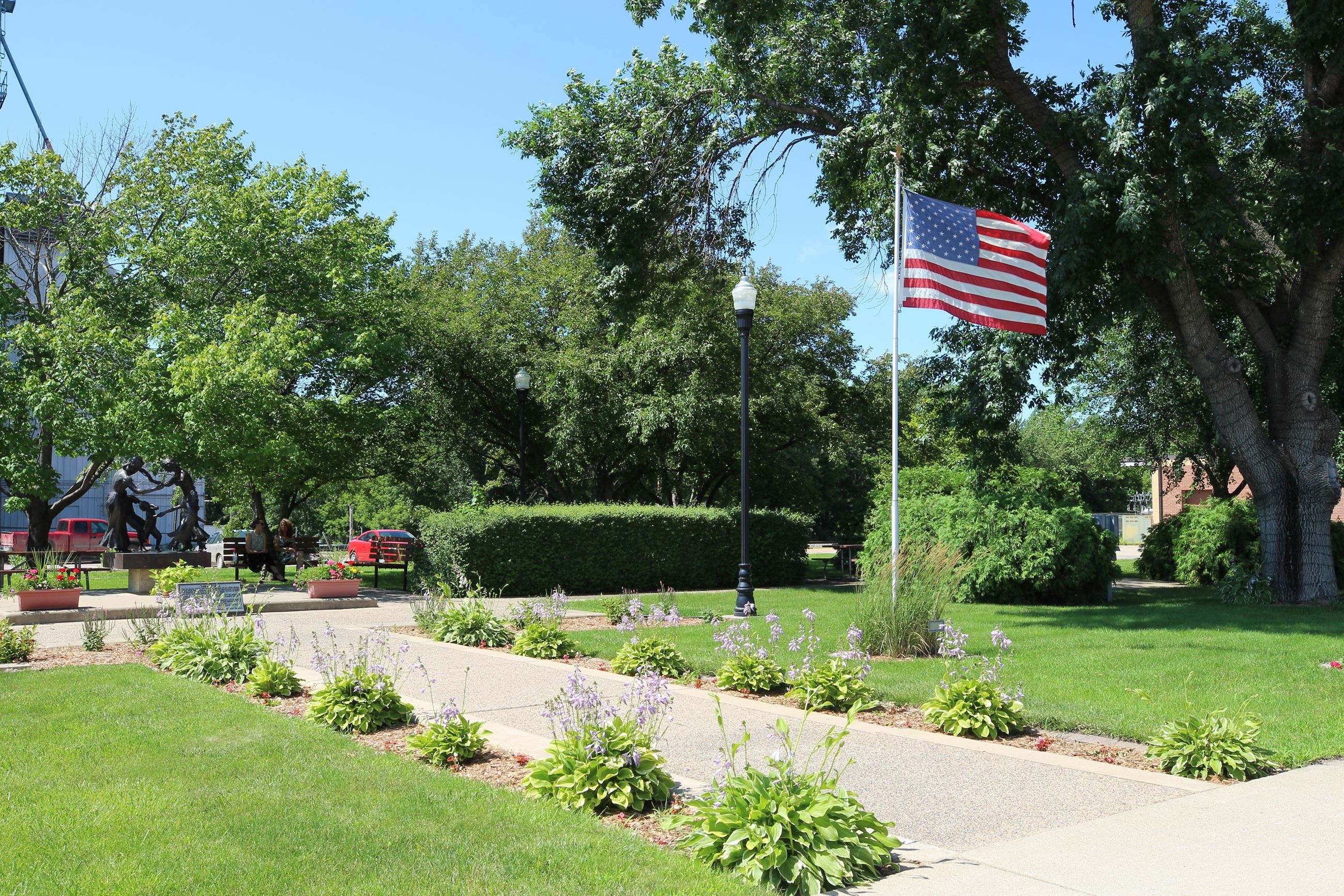 Park and American flag